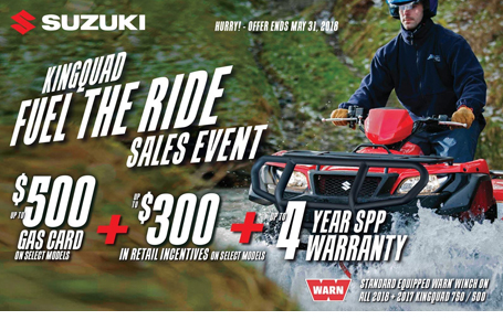 KingQuad Fuel the Ride Sales Event