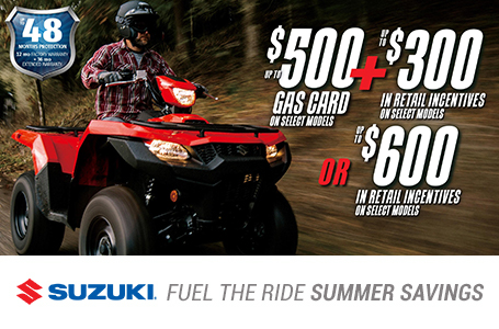 Suzuki Fuel the Ride Sales Event - ATV