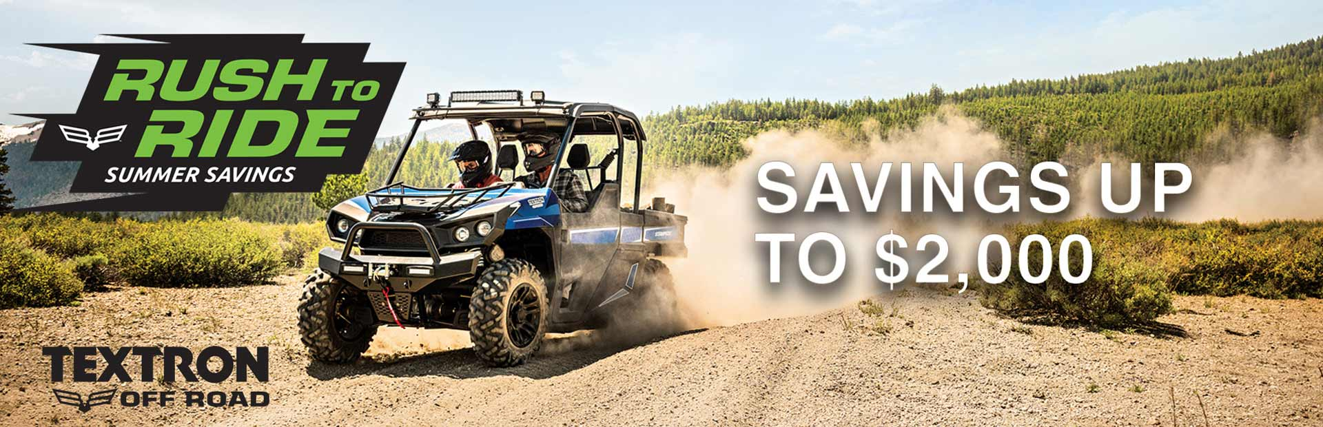 Textron Off Road: Rush to Ride Summer Savings