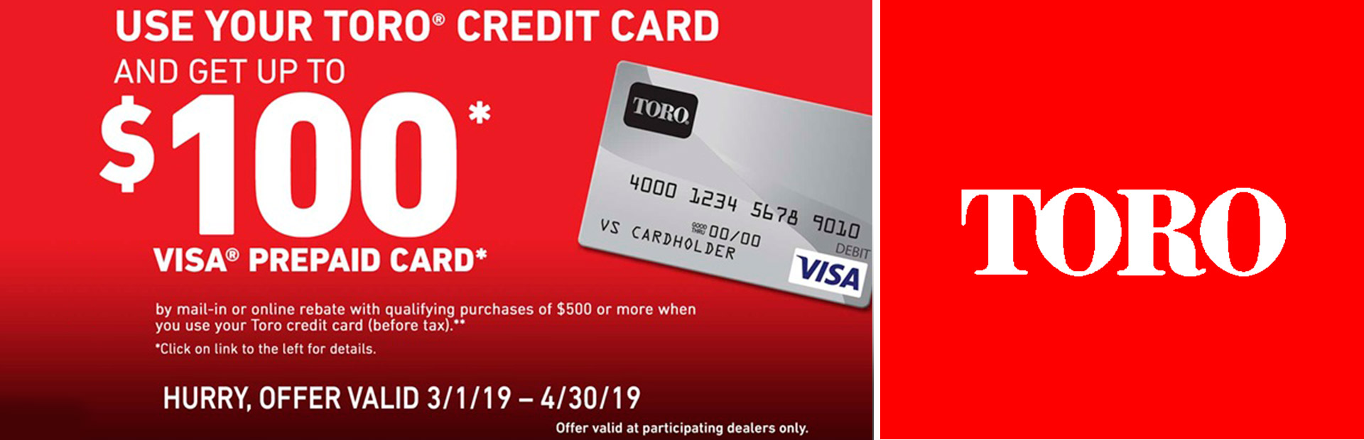 Toro: Toro Visa Prepaid Card Offer