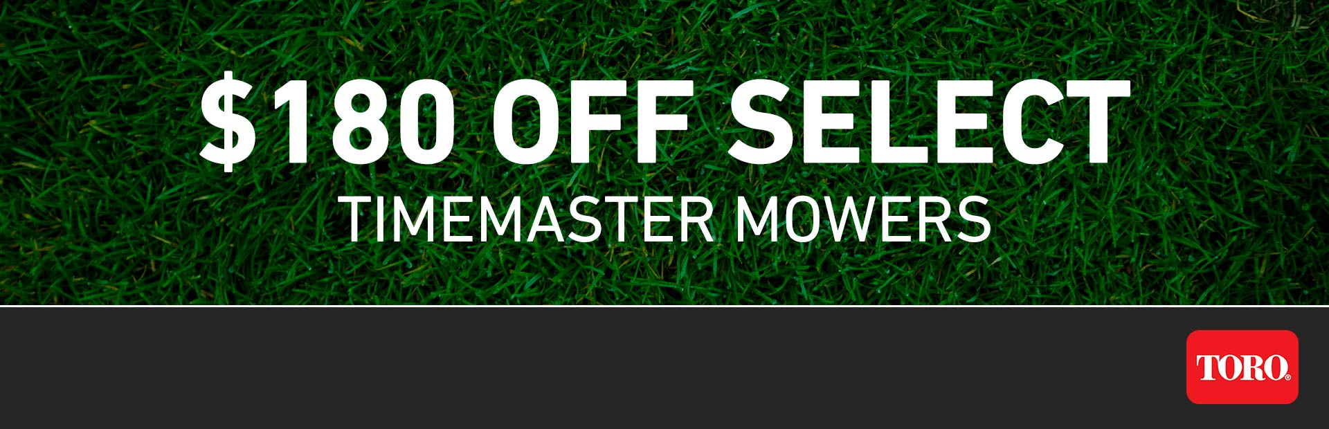 Toro: $180 CAD OFF Select TimeMaster Mowers