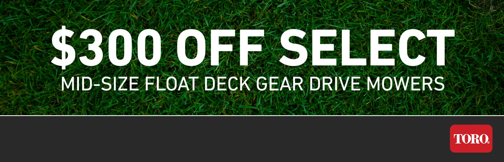 Toro: $300 Off Select MidSize FloatDeck Gear Walk Mowers