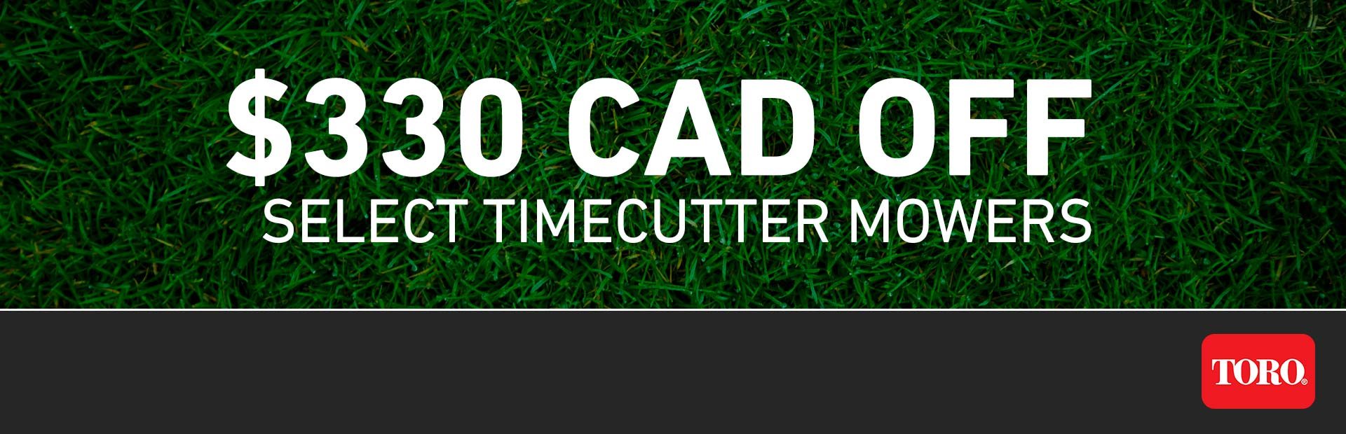 Toro: $330 CAD OFF Select TimeCutter Mowers