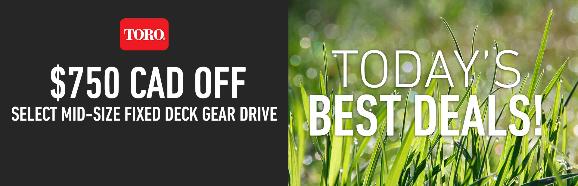 Toro: $750 CAD Off Select Mid-Size Fixed Deck Gear Drive