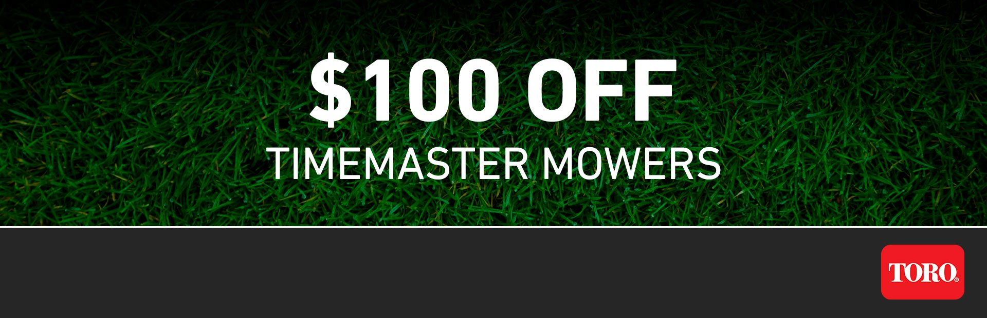 Toro: RE - $100 Off Select TimeMaster Mowers