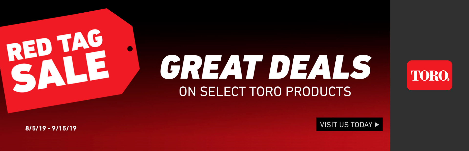 Toro: Red Tag Sales Event