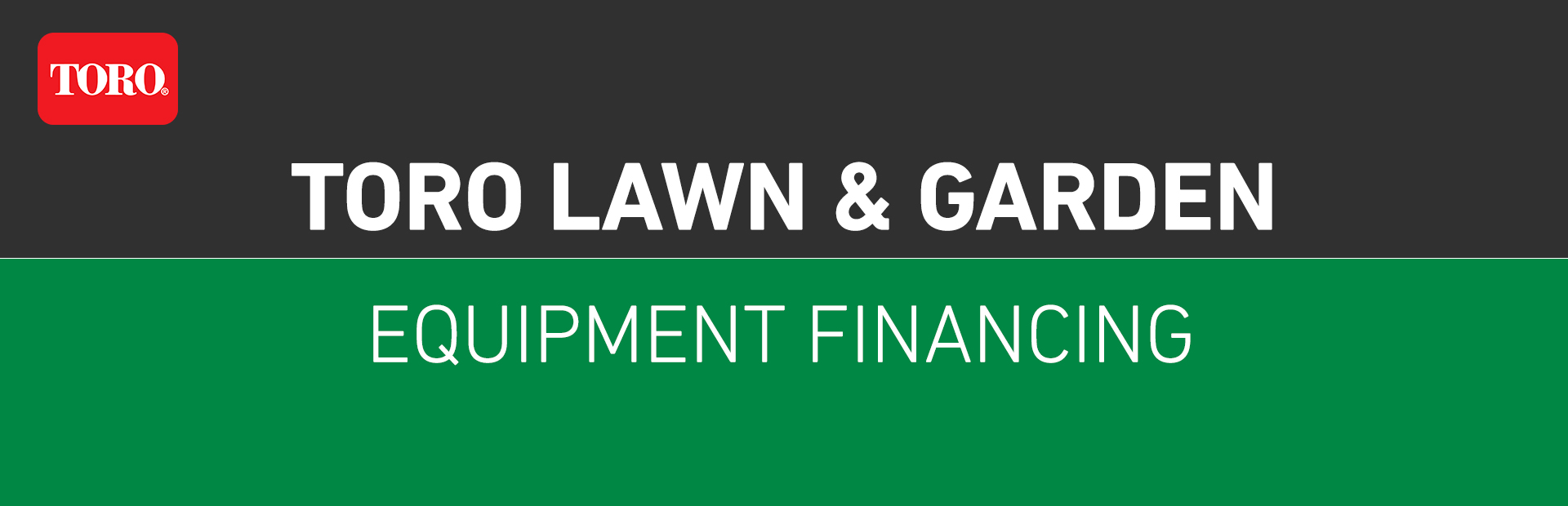 Toro: Toro Lawn & Garden Equipment Financing