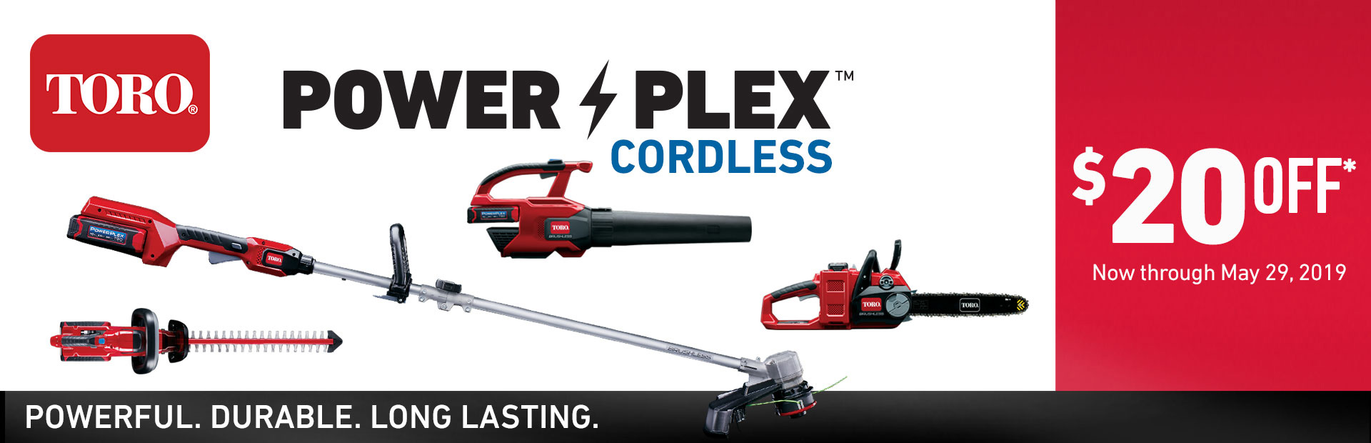 Toro: $20 Off Select Cordless 40V PowerPlex Tools