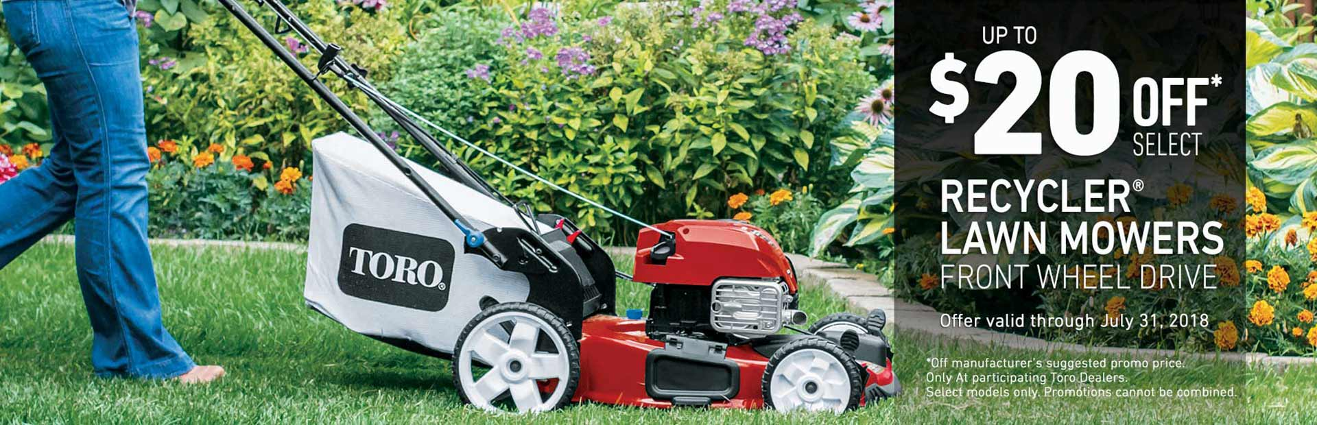 Toro: $20 Off FWD High Wheel Recyclers