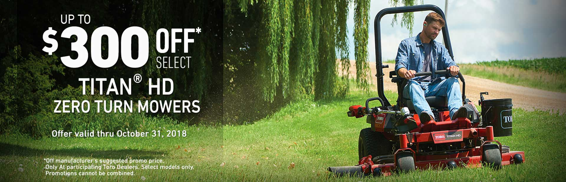 Toro: $300 USD Off Select TITAN® HD Mowers