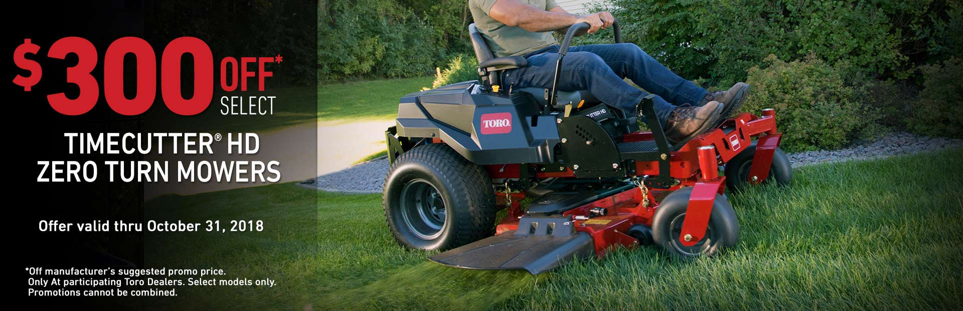 Toro: $300 Off Select TimeCutter HD Mowers