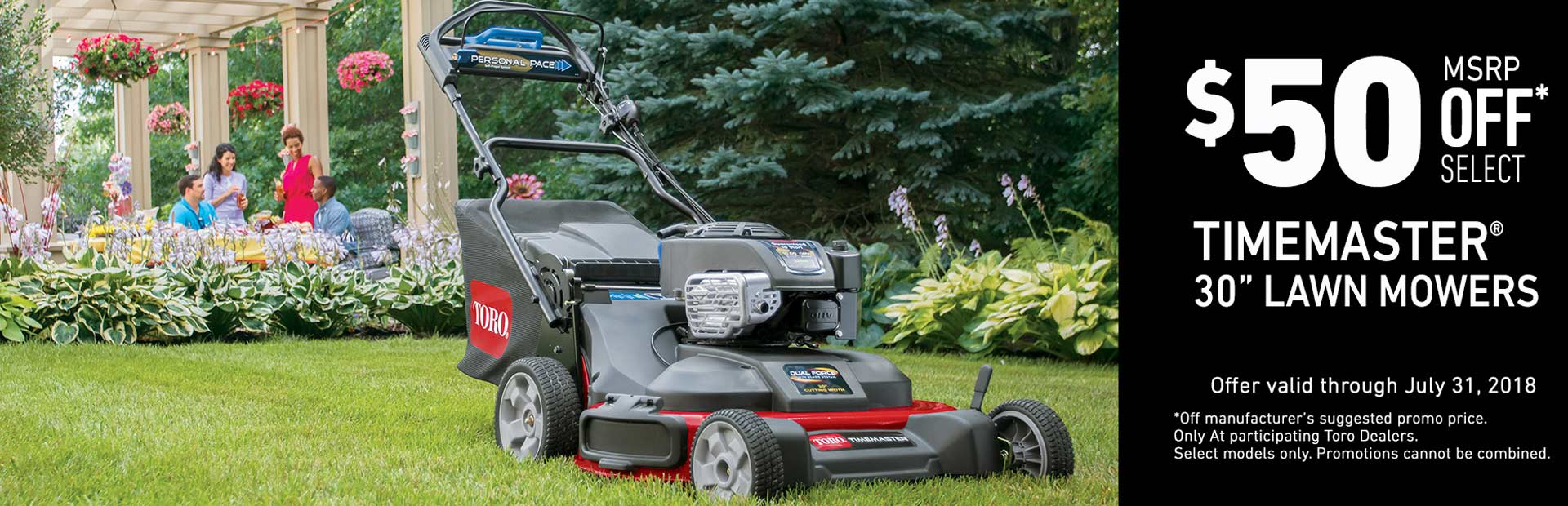 Toro: $50 Off TimeMaster Mowers