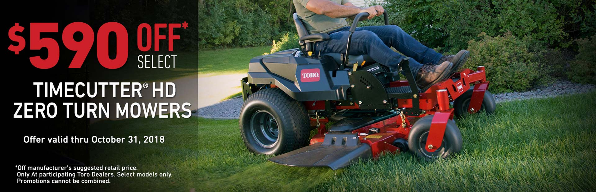 Toro: $590 CAD OFF Select TimeCutter HD Mowers