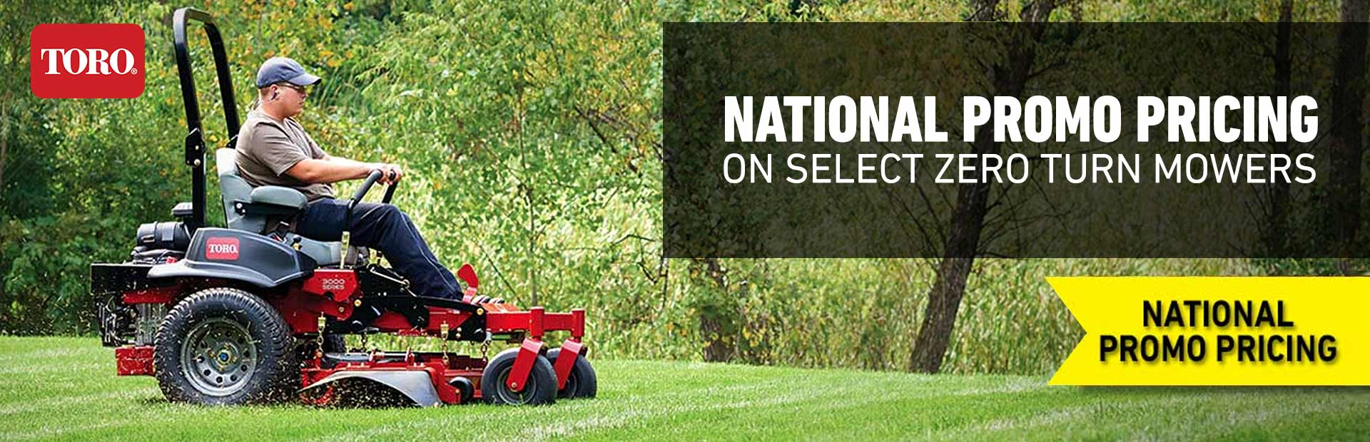 Toro: National Promo Pricing On Select Zero Turn Mowers