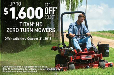 Up To $1600 CAD OFF Select TITAN® HD Mowers