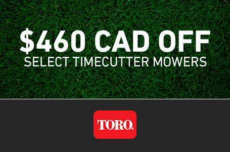$460 CAD OFF Select TimeCutter Mowers