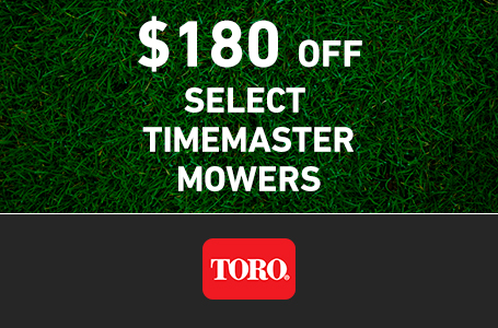 $180 CAD OFF Select TimeMaster Mowers