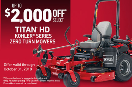 $2000 CAD OFF 2017 TITAN® HD 2000 Series Mowers