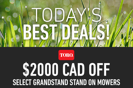 $2000 CAD Off Select GrandStand Stand On Mowers