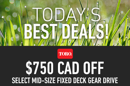 $750 CAD Off Select Mid-Size Fixed Deck Gear Drive