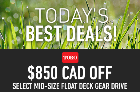 $850 CAD Off Select Mid-Size Float Deck Gear Drive
