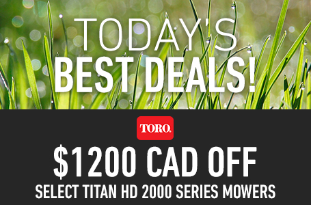 $1200 CAD Off Select TITAN HD 2000 Series Mowers