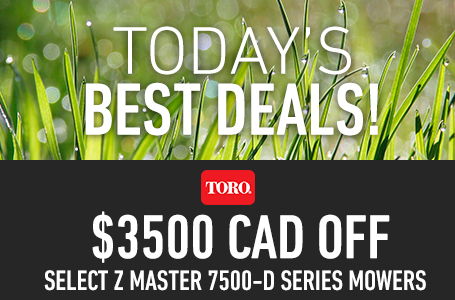 $3500 CAD Off Select Z Master 7500-D Series Mowers