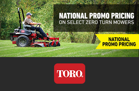 National Promo Pricing On Select Zero Turn Mowers