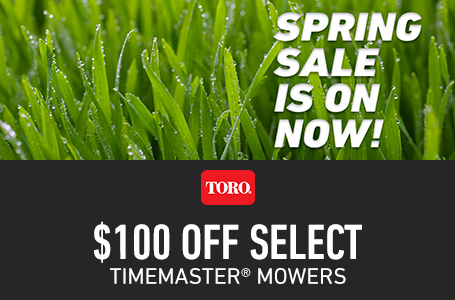 $100 Off Select TimeMaster Mowers