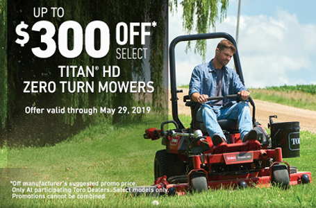 $300 Off Select Titan HD 1500 Zero Turn Mowers