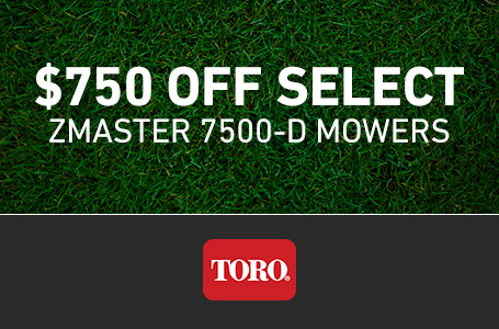 $750 Off Select ZMaster 7500-D Mowers