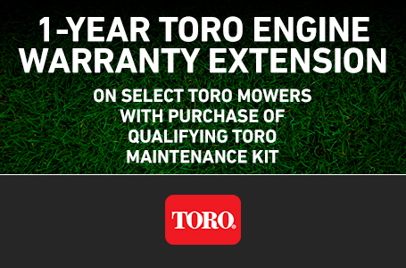RE - FREE 1-Year Toro Engine Warranty