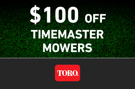RE - $100 Off Select TimeMaster Mowers