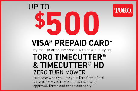 Use Your Toro Credit Card and Get Up To $500