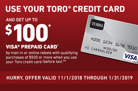 Toro Credit Card Rebate Offer