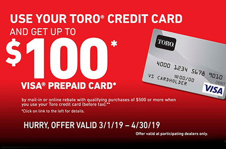 Toro Visa Prepaid Card Offer