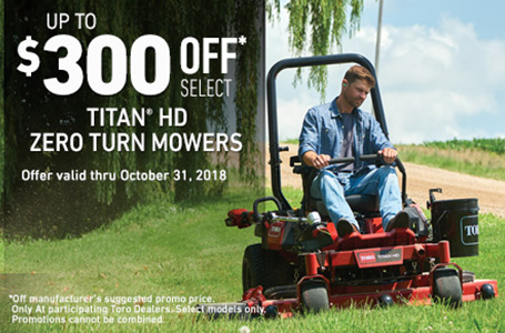 $300 USD Off Select TITAN® HD Mowers