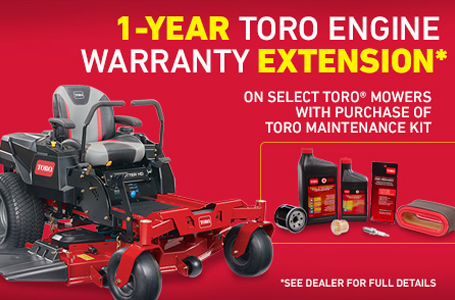 1-Year Toro Engine Warranty Extension