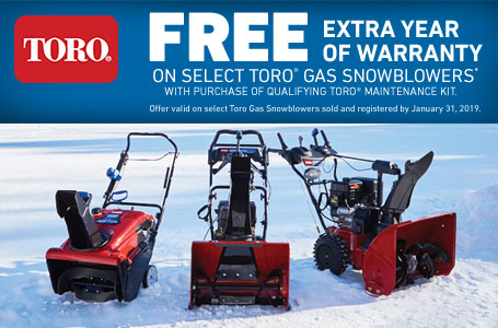 1-Year Toro Engine Warranty Extension -Snowblowers