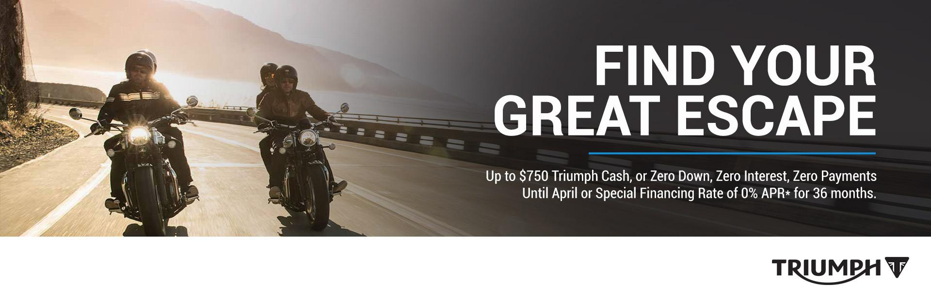 Triumph: Find Your Great Escape