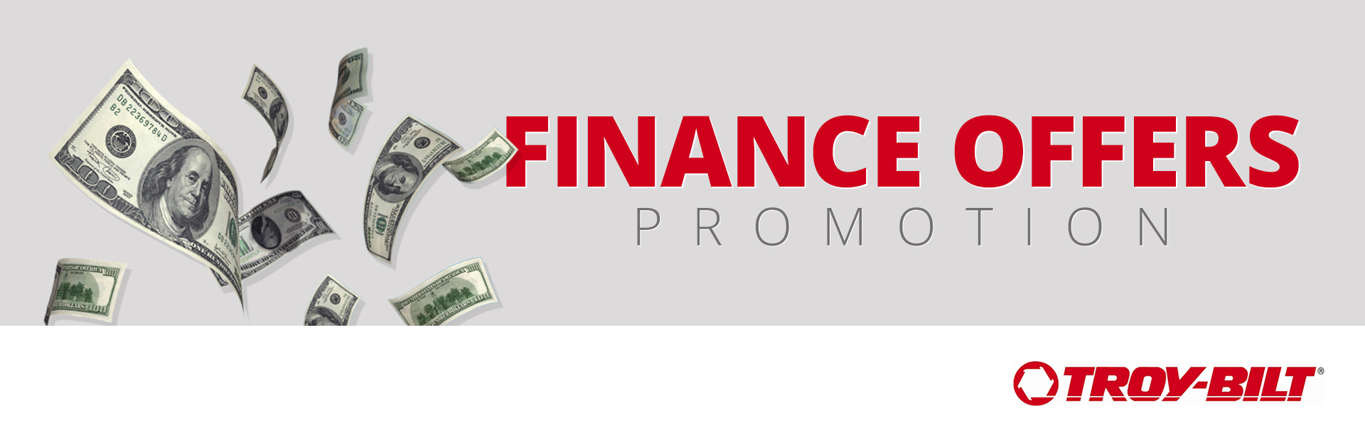Troy-Bilt: Finance Offers