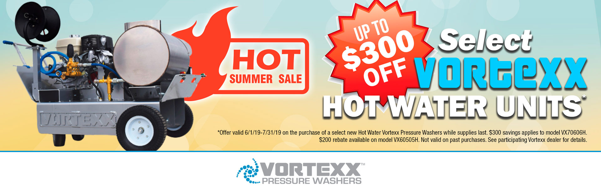 Vortexx: Up to $300 Off Select Vortexx Hot Water Units