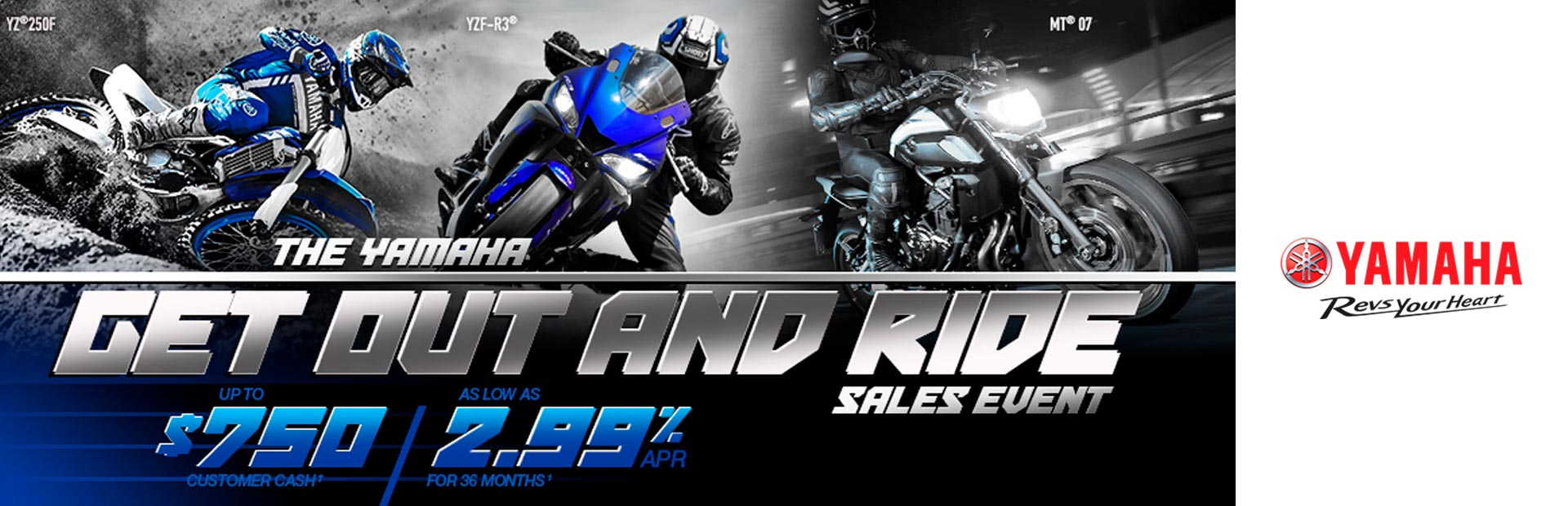 Yamaha: Get Out and Ride Sales Event