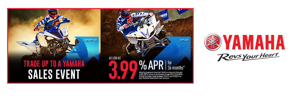 Yamaha: As Low As 3.99% APR For 36 Months (Sport ATV)