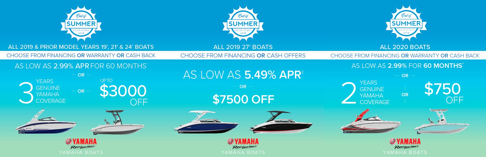 Yamaha: End Of Summer Sales Event