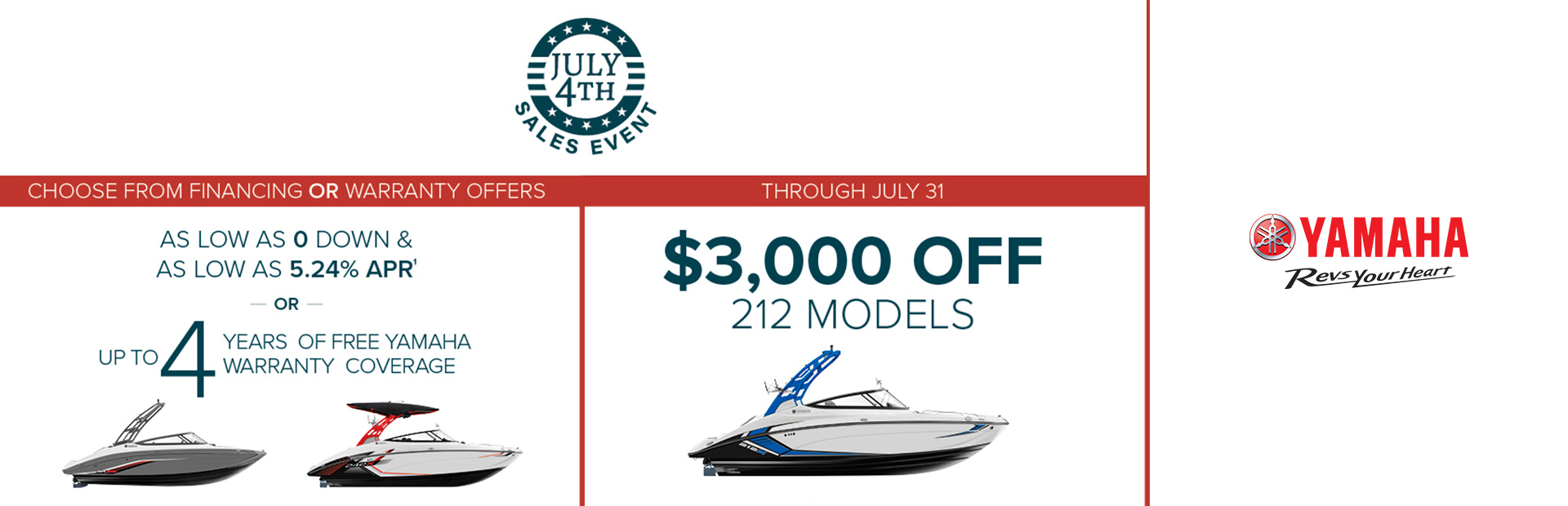 Yamaha: July 4th Sales Event