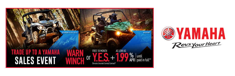Yamaha: As Low As 1.99% APR Until Paid In Full (Rec SxS)