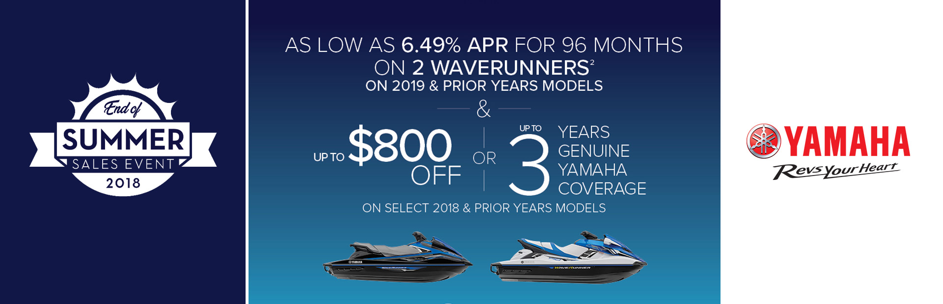 Yamaha: End of Season Sales Event - As Low As 6.49% APR