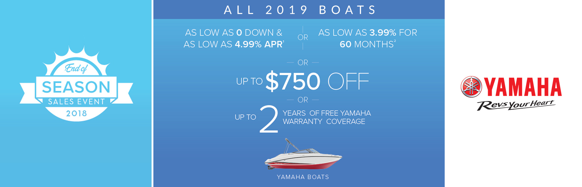 Yamaha: End of Season Sales Event - All 2019 Boats