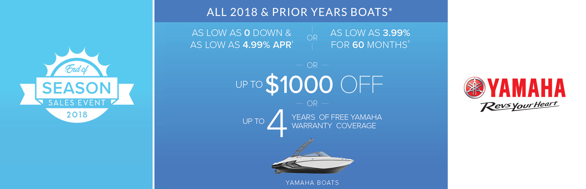 Yamaha: End of Season Sales Event - 2018 and Prior Years